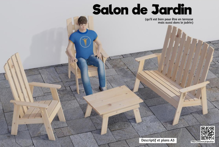 Salon de jardin en Bois | Framalibre
